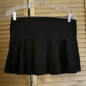 Black swim suit skirt